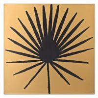 Palm Frond on Metallic Gold Wood Wall Art