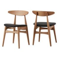 Verona Home Paloma Mid-Century Dining Chairs in Natural/Black (Set of 2)