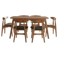 iNSPIRE Q® Paloma Mid-Century 7-Piece Dining Set with 63-Inch Table in Warm Chestnut/Black
