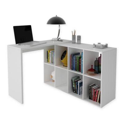 Manhattan Comfort Accentuations Taranto Cubby Desk In White