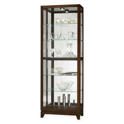 Howard Miller® Luke Curio Cabinet In Dark Brown