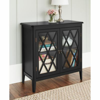Chatham House Argyle 2-Door Cabinet in Black