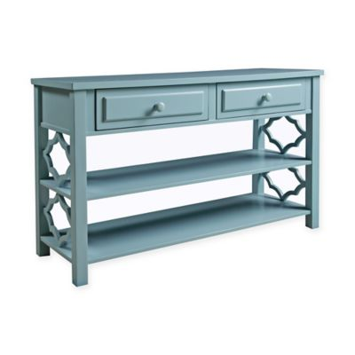 panama jack colors console in deep sea blue - Cheap Console Tables