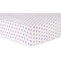 Trend Lab® Flower Dot Deluxe Flannel Fitted Crib Sheet in Lilac