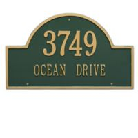 Whitehall Products Estate 2-Line Providence Arch Wall Marker in Green/Gold