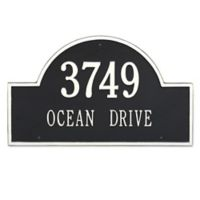 Whitehall Products Estate 2-Line Providence Arch Wall Marker in Black/White