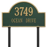 Whitehall Products Estate Lawn 2-Line Arch Marker in Green/Gold