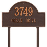 Whitehall Products Estate Lawn 2-Line Arch Marker in Antique Copper