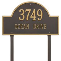 Whitehall Products Estate Lawn 2-Line Arch Marker in Bronze/Gold