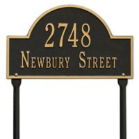 Whitehall Products Standard Lawn 2 Line Arch Marker in Black/Gold