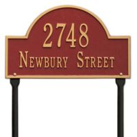 Whitehall Products Standard Lawn 2 Line Arch Marker in Red/Gold