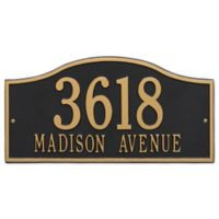 Whitehall Products Rolling Hills Grand Wall Address Plaque in Black/Gold
