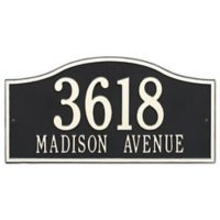 Whitehall Products Rolling Hills Grand Wall Address Plaque in Black/White