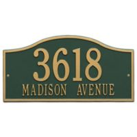 Whitehall Products Rolling Hills Grand Wall Address Plaque in Green/Gold