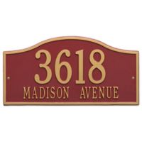Whitehall Products Rolling Hills Grand Wall Address Plaque in Red/Gold