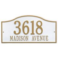 Whitehall Products Rolling Hills Grand Wall Address Plaque in White/Gold