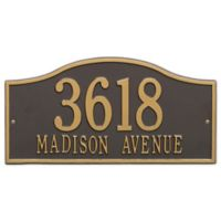 Whitehall Products Rolling Hills Grand Wall Address Plaque in Bronze/Gold
