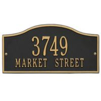 Whitehall Products Rolling Hills Standard Wall Address Plaque in Black/Gold
