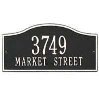 Whitehall Products Rolling Hills Standard Wall Address Plaque in Black/White