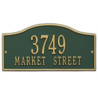 Whitehall Products Rolling Hills Standard Wall Address Plaque in Green/Gold