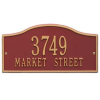 Whitehall Products Rolling Hills Standard Wall Address Plaque in Red/Gold