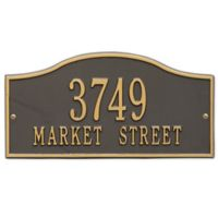Whitehall Products Rolling Hills Standard Wall Address Plaque in Bronze/Gold