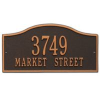 Whitehall Products Rolling Hills Standard Wall Address Plaque in Oil Rubbed Bronze