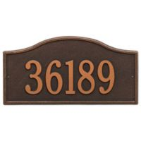 Whitehall Rolling Hills 1-Line Grand Wall Plaques in Rubbed Bronze