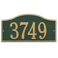 Whitehall Products Rolling Hills House Numbers Plaque in Green/Gold