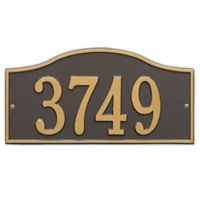 Whitehall Products Rolling Hills House Numbers Plaque in Bronze/Gold