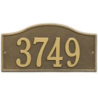 Whitehall Products Rolling Hills House Numbers Plaque in Antique Brass