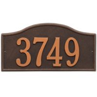 Whitehall Products Rolling Hills House Numbers Plaque in Oil Rubbed Bronze