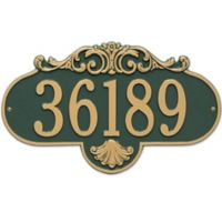 Rochelle 1-Line Grande Wall Plaque in Green/Gold