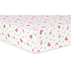Trend Lab® Reindeer Deluxe Flannel Fitted Crib Sheet in Pink