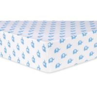 Trend Lab® Elephants Deluxe Flannel Fitted Crib Sheet in Blue