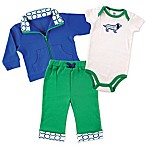 Baby Vision® Yoga Sprout Size 6-9M 3-Piece Dog Bodysuit, Jacket, and Pant Set in Blue/Green