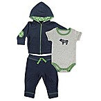 BabyVision® Yoga Sprout Size 6-9M 3-Piece Bear Bodysuit, Hoodie, and Pant Set in Navy