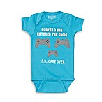 "Sara Kety® Size 6-12M ""Player 3"" Short Sleeve Bodysuit in Turquoise"