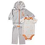 BabyVision® Yoga Sprout Size 3-6M Giraffe Bodysuit, Hoodie, and Pant Set in Grey