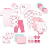 BabyVision® Luvable Friends® Size 0-6M 24-Piece Floral Deluxe Gift Cube in Pink