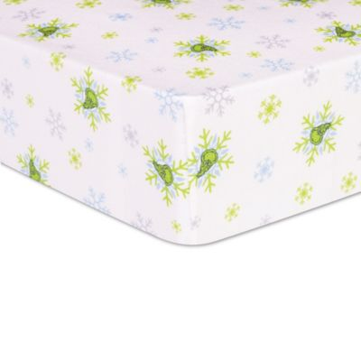 trend lab dr seuss the grinch deluxe flannel crib sheet