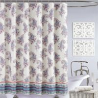 Jessica Simpson Gemma Shower Curtain in Blue