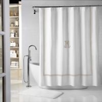 Wamsutta® Baratta 72-Inch x 72-Inch Shower Curtain in White/Taupe