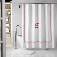 Wamsutta® Baratta 72-Inch x 96-Inch Shower Curtain in White/Red
