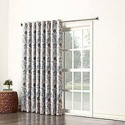Product Image For Sun Zero Allena Grommet Top Extra Wide Patio Door Curtain Panel In Stone