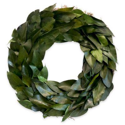 green leaf 20 inch botanical wreath - Decorative Wreaths