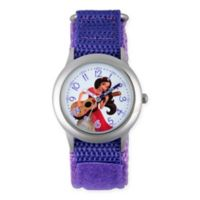 Disney® Elena of Avalor Children's Time Teacher Watch in Stainless Steel w/Purple Nylon Strap