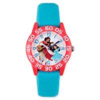 Disney® Elena of Avalor Children's 32mm Time Teacher Watch in Red Plastic w/Blue Nylon Strap