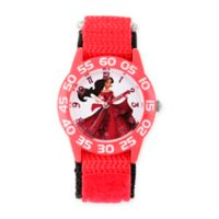 Disney® Elena of Avalor Children's 32mm Time Teacher Watch in Red Plastic w/Red Nylon Strap