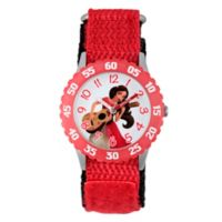 Disney® Elena of Avalor Children's Guitar Time Teacher Watch in Red Plastic w/Red Nylon Strap